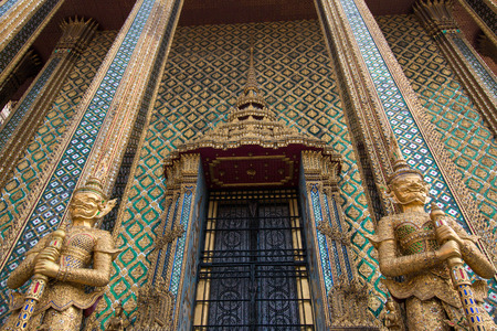 Phra Mondhop at Wat Phra Kaew, Bangkok, Thailand.