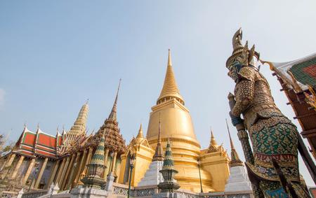 Wat pra kaew, Grand palace in bangkok, Thailand.