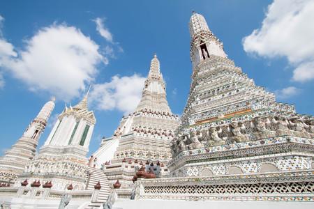 Wat Arun temple, one of landmark Chao Phraya river in Bangkok Thailand.