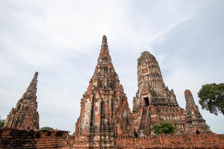 Chaiwatthanaram temple in ayutthaya historical park, ayutthaya province, Thailand. Stock Photo - 105393261
