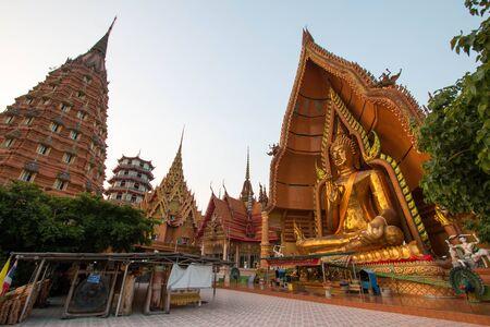 Kanchanaburi, THAILAND - APRIL 15, 2018 : Big Buddha statue at Tiger Cave Temple, Wat Tham Sua, Kanchanaburi Province, Thailand.