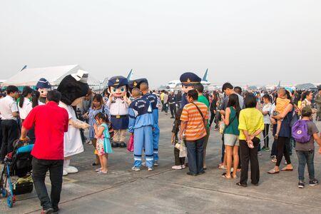 BANGKOK, THAILAND - January 12 , 2019 : Children's Day at Royal Thai Airforce Base Don Mueang. Editorial