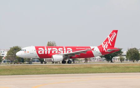 BANGKOK, THAILAND - January 12 , 2019 : Thai AirAsia indonesia (PK-AZL) taking off from Don mueang International Airport. Editorial