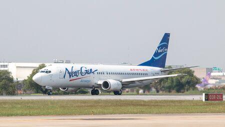 BANGKOK, THAILAND - January 12 , 2019 : Newgen Airways (HS-NGD) named