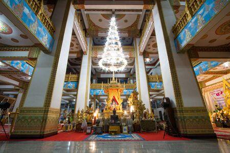 KHON KAEN, THAILAND - May 4, 2018 : Nongwang Temple (Phra Mahathat Kaen Nakhon), Royal monastery, 9th floor pagoda. Editorial