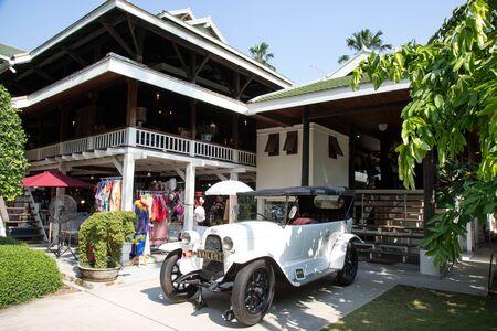 BANGKOK, THAILAND - February 23, 2019 : Park Nai Lert Heritage Home in Nailert Flower and garden Art Fair.