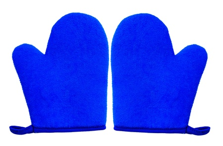 double oven: double oven glove mitt isolated on white background