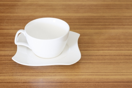 coffee cup top view on the desk wooden photo