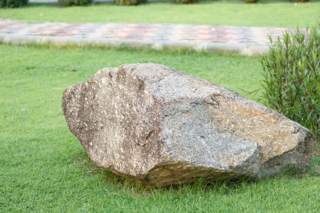 big stone bueatiful in tha garden and park photo