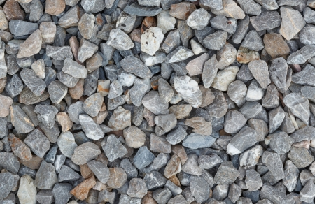 Background of gray granite gravel photo