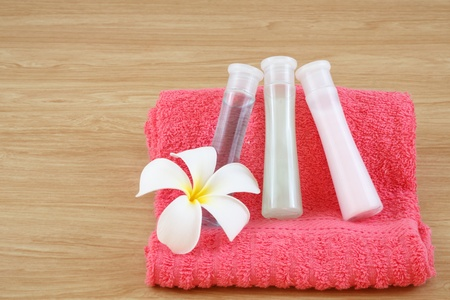liquid soap, gel, shampoo, oil photo