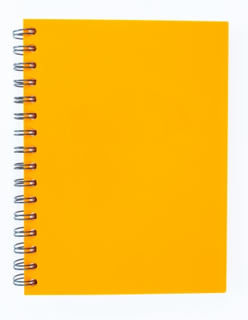 notebook cover: notebook on white background