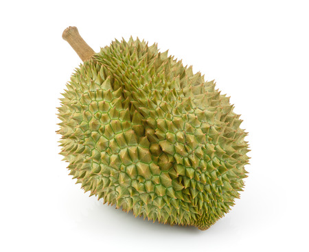 King of fruits, durian isolated on white  photo