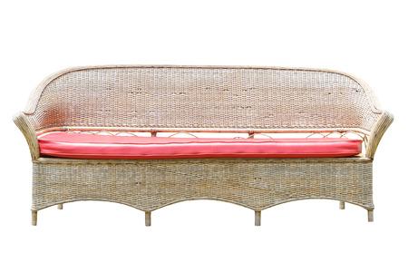 Garden bench isolated on white  photo