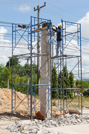 construction worker Site at Thailand