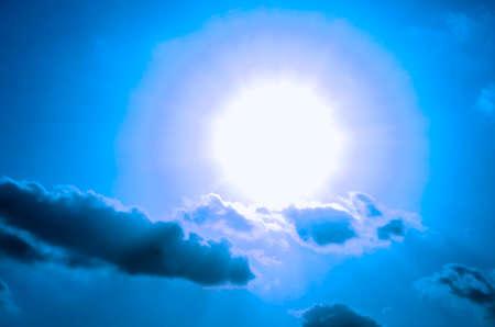 aura: Aura on a cloud in the sky.