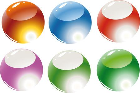 refracting: Vector. Refracting spheres. Illustration