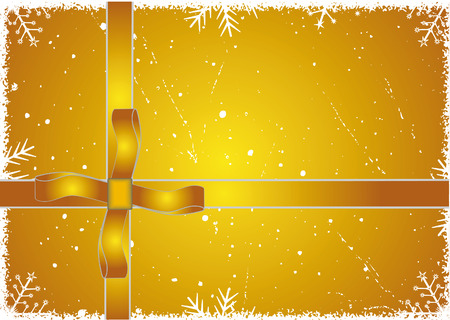 Gold Winter background. Vector illustration - easy to edit. Vector