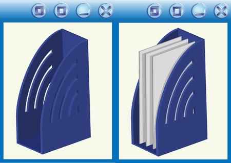 Empty color folders. Vector illustration Vector