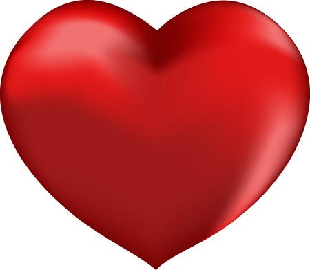 Vector ilustraci�n de coraz�n rojo Vectores