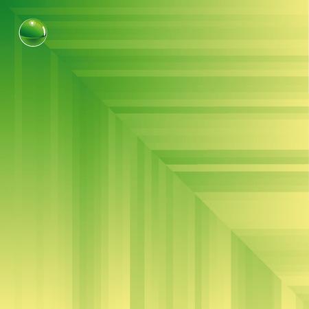 Green background composition. Vector illustration