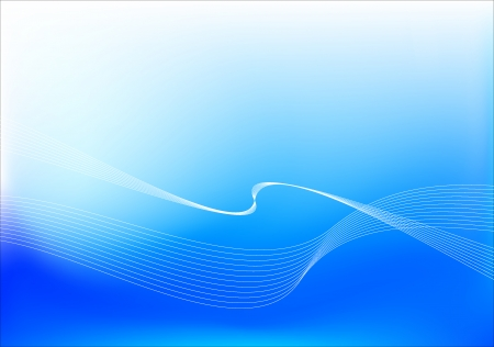 Blue background composition. Vector illustration. Meshes are used.