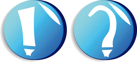 Color web buttons. For any use. Illustration