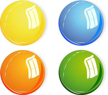 3d color vector spheres with light reflection Illustration