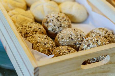 basket with bread: basket bread