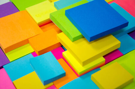 note pad: colorful paper note pad