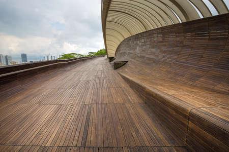 pedestrian bridge: Modern pedestrian bridge connecting parks