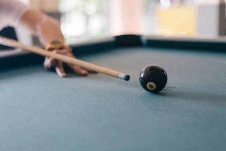 Billiards ball in pool table