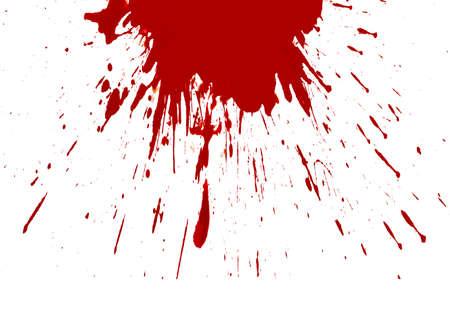 Blut spritzte weißen Hintergrund