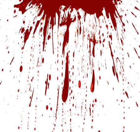 ink stain: Blood splashed white background