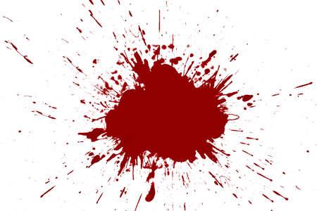 blood stain: Blood splashed white background