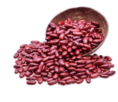 rajma: Red beans isolated on white background