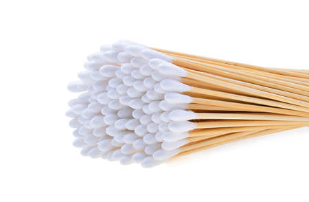 cotton wool: Cotton wool sticks isolated on white