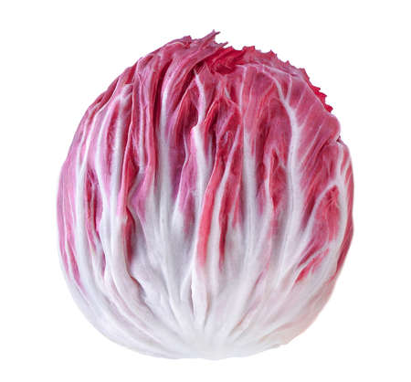 radicchio: Radicchio, red salad isolated on white background Stock Photo
