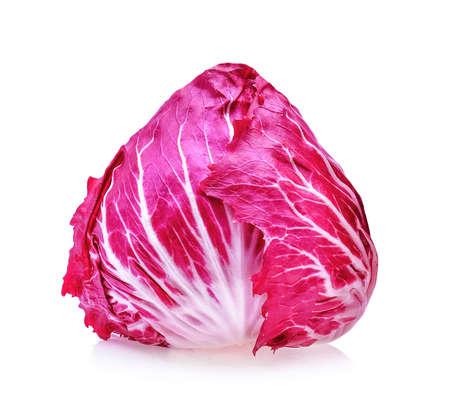 Radicchio, isoliert roten Salat auf weißem Hintergrund Standard-Bild - 62751459