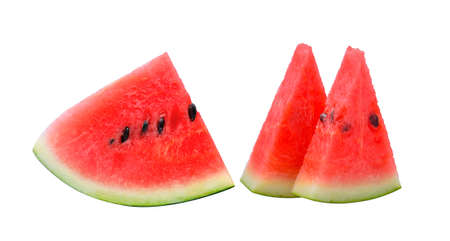 sliced watermelon: watermelon on white background