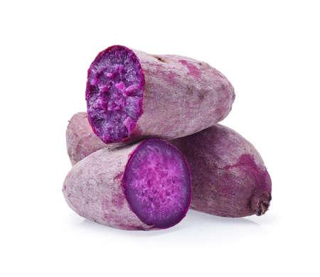 Purple Sweet Potatoes on White background