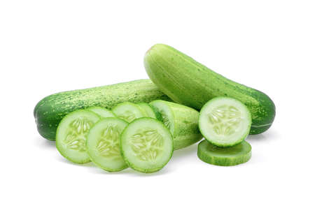 cucumber isolated on white background.