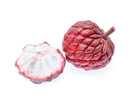 anona: Custard apple isolated on white background Stock Photo