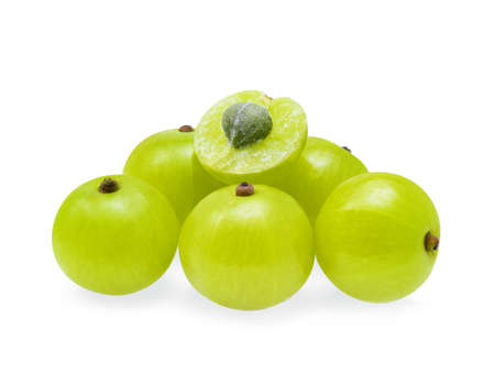 tropica: Indian gooseberries on white background