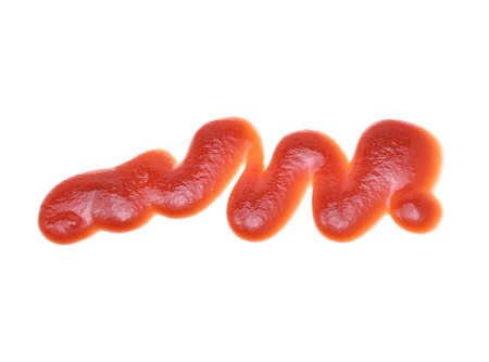tomato sauce on white background
