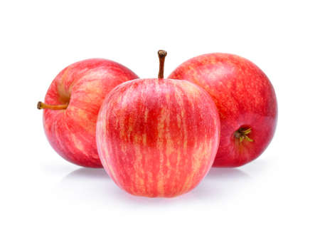 Red Gala apples isolated on white background Stock Photo