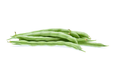 Green beans isolated on white background. Stock Photo