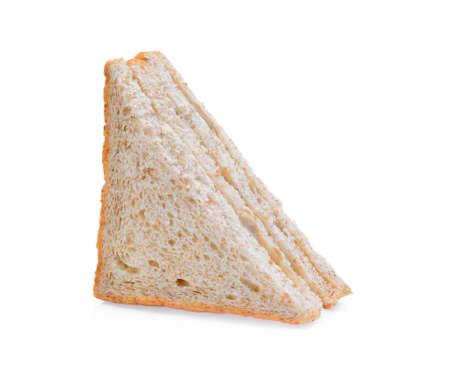 tuna sandwich on white background Archivio Fotografico