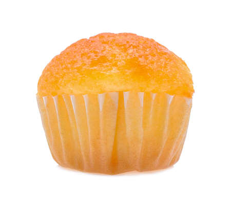 butter icing: mini tasty cupcake isolated on white background Stock Photo
