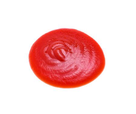 Closeup tomato sauce isolated on white background